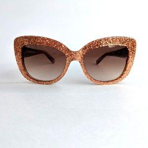 Kate Spade Ursula/S Rose Gold Glitter Sunglasses